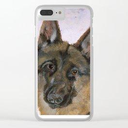 Portrait of a German Shepherd Clear iPhone Case