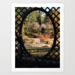 Biltmore Garden Trellis Art Print