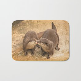 Kissing Otters Bath Mat