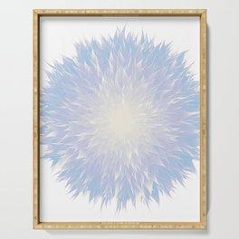 Mandala Flower || Blue Serving Tray