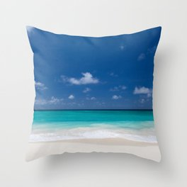 Peaceful Turquoise Blue Ocean Seascape Throw Pillow