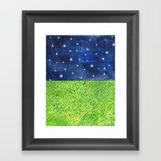 Grass & Stars Framed Art Print