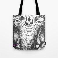 ganesha Tote Bags featuring Ganesha by Morgan Soto