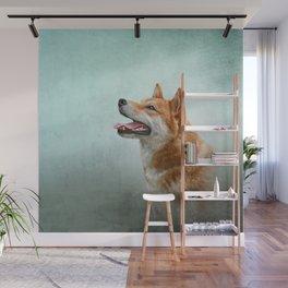 Drawing Japanese Shiba Inu dog 2 Wall Mural