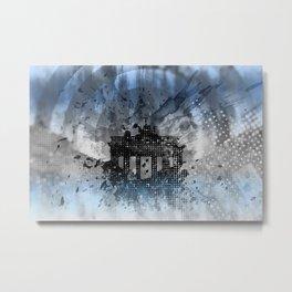 Graphic Art BERLIN Brandenburg Gate Metal Print