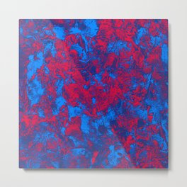 Red + Blue Metal Print