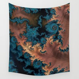 Copper Flame - Fractal Art  Wall Tapestry
