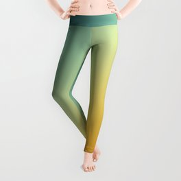 Gradient Colours: Orange Blue Leggings