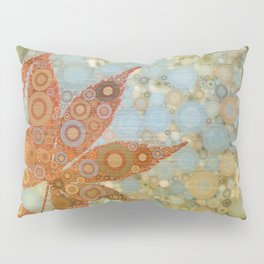 Perky Maple Leaf Abstract Pillow Sham