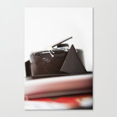 chocolate mouse cake Canvas Print