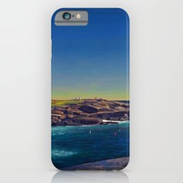 Classical Masterpiece 'Maine Lobsterman' by Rockwell Kent iPhone Case
