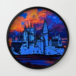 HOGWARTS CASTLE AT PAINTING Wall Clock