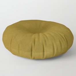 Ochre Yellow Velvet Texture Floor Pillow