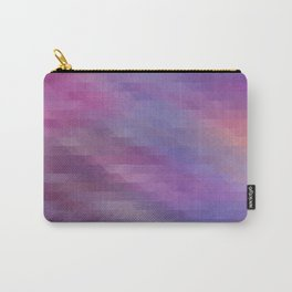 Washed Out Geometric: Purple, Blue, Peach and White Carry-All Pouch