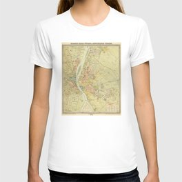 Vintage Map of Budapest Hungary (1900) T-shirt