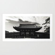 Kyoto Temple 4. Art Print