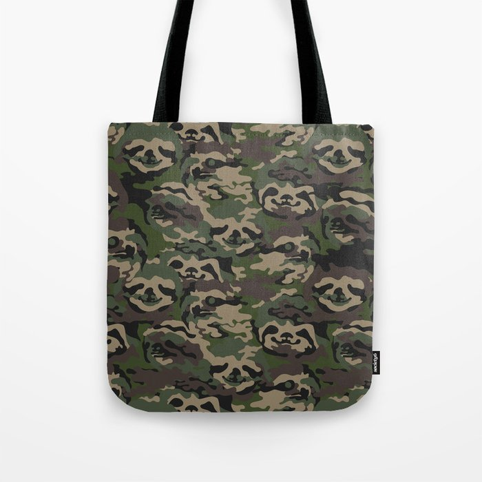 Sloth Camouflage Tote Bag