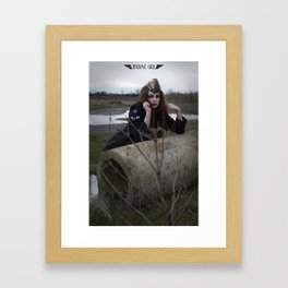 Alone in the Wasteland Pin-p 4 Framed Art Print