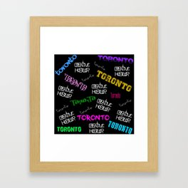 Creative Hustler Toronto Framed Art Print