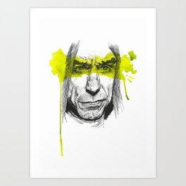 Iggy portrait Art Print