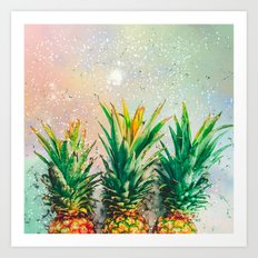 Party Pineapple Art Print