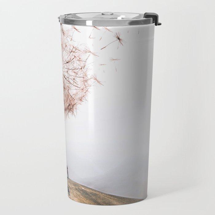 Flying Dandelion Travel Mug