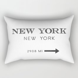 watercolor new york new york Rectangular Pillow
