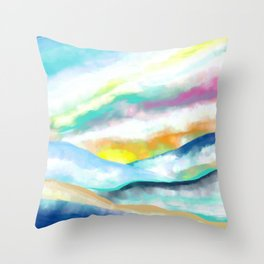 Sunset Landscape (without airplane) Throw Pillow
