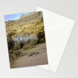 rock coast sand outflow dampness Stationery Cards