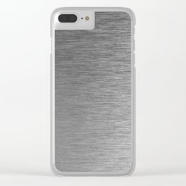 Metal Series Silver Clear iPhone Case