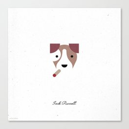 Pedigree: Jack Russell Canvas Print