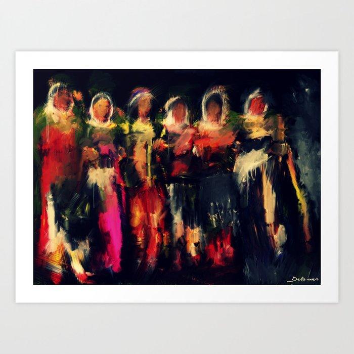 kurdish dance  Kunstdrucke