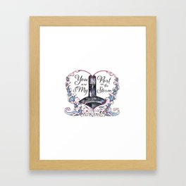 You Are My Port in the Storm - Submarine Framed Art Print