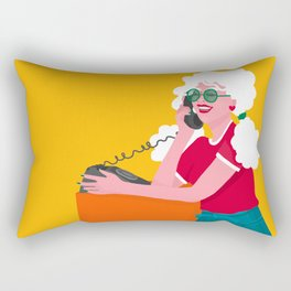 Calling the 80s Rectangular Pillow