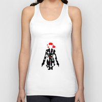 black widow Tank Tops featuring black widow by Rebecca McGoran