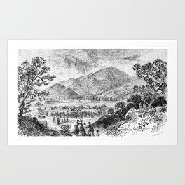 Mount Saint Helena A La California (1873) Art Print