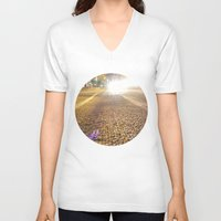 vancouver V-neck T-shirts featuring Dunsmuir Vancouver by RMK Creative