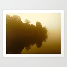 foggy reflections in sepia Art Print