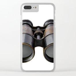 Vintage binoculars Clear iPhone Case