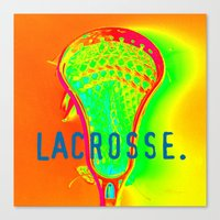 lacrosse Canvas Prints featuring LACROSSE. ORANGE by TMCdesigns