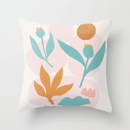 Abstraction_Floral_Minimalism_Beautiful_Day Throw Pillow
