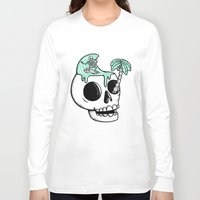 surfer Long Sleeve T-shirts featuring Surfer Thoughts by Alejandro Giraldo