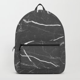 Gray marble abstract texture pattern Backpack