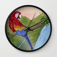 brasil Wall Clocks featuring Brasil by Thyra