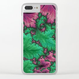 Fern Fractal Clear iPhone Case