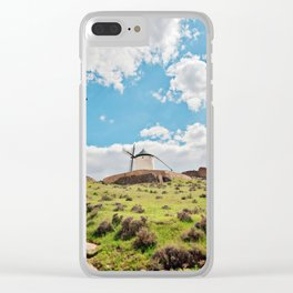 Traditional white windmills Clear iPhone Case