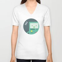 bmo V-neck T-shirts featuring BMO by gaps81