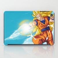 goku iPad Cases featuring Goku SS3 by WaXaVeJu