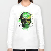 jamaica Long Sleeve T-shirts featuring Jamaica circuit Skull. by seb mcnulty