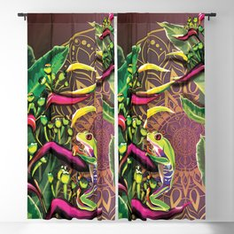 Red Eyed Tree Frog Blackout Curtain